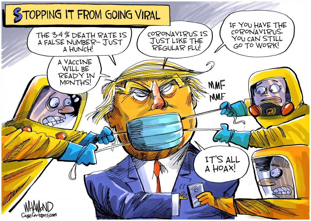 Trump Covid-19 Cartoon